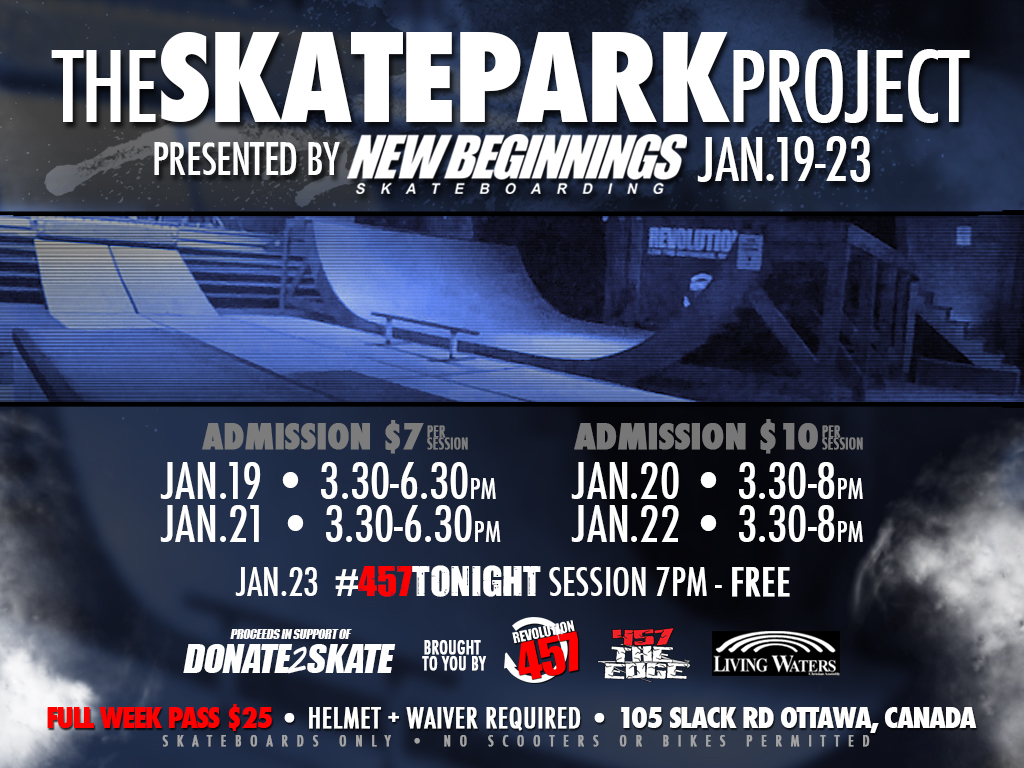 THE SKATEPARK PROJECT - JAN 19 - 23RD