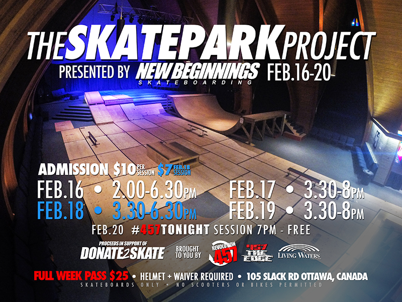 THE SKATEPARK PROJECT - New Beginnings Skateboarding